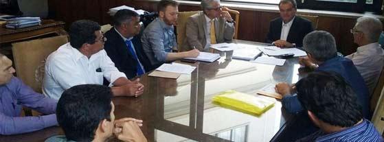 Vereadores de Ribeira se reúnem com o Chefe da Casa Civil